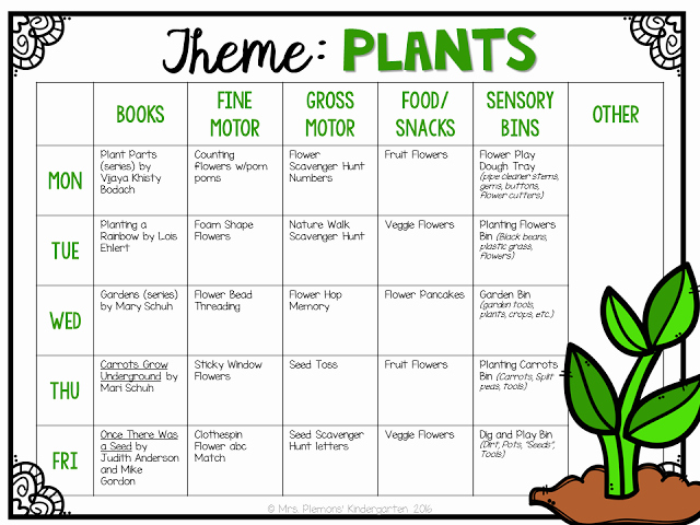 Lessons Plans for toddlers Awesome tot School Plants tot School