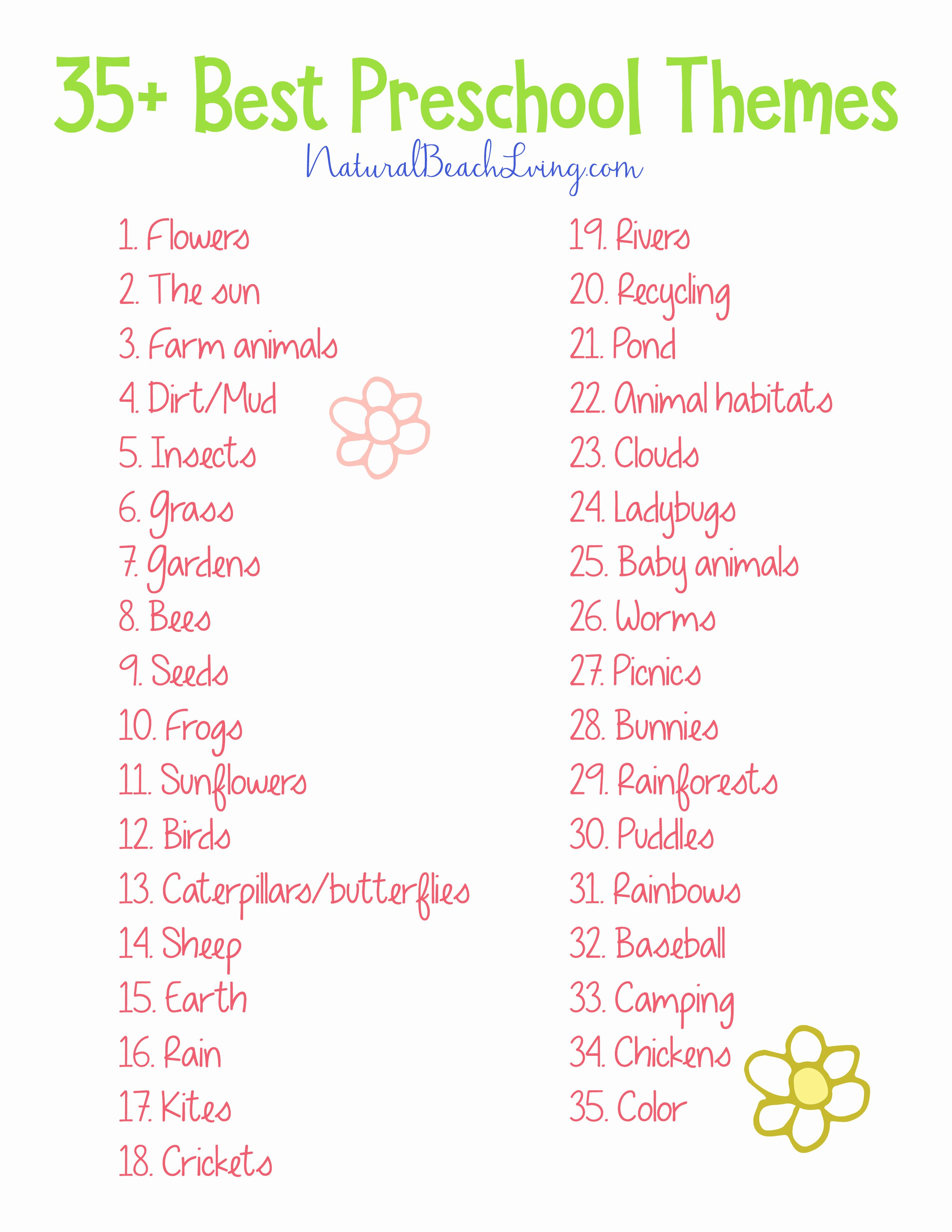 Lessons Plans for toddlers Elegant 35 the Best Spring Preschool themes and Lesson Plans