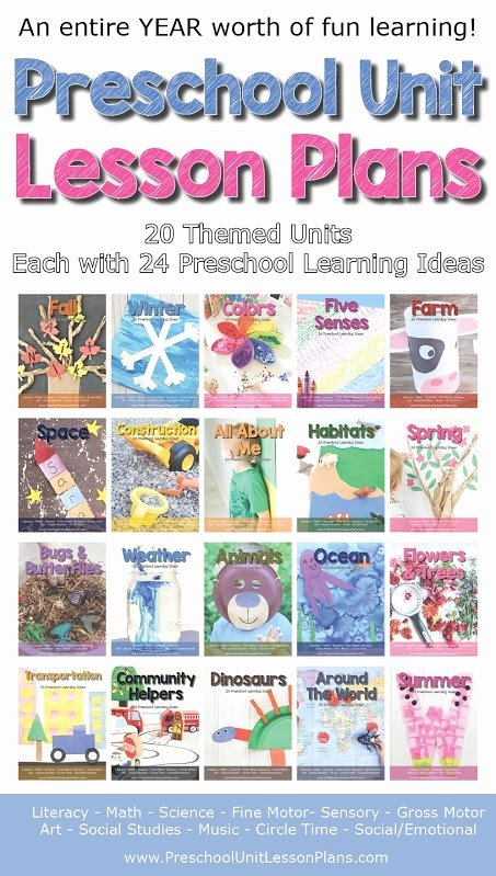 Lessons Plans for toddlers New An Entire Year Of Preschool Lesson Plans