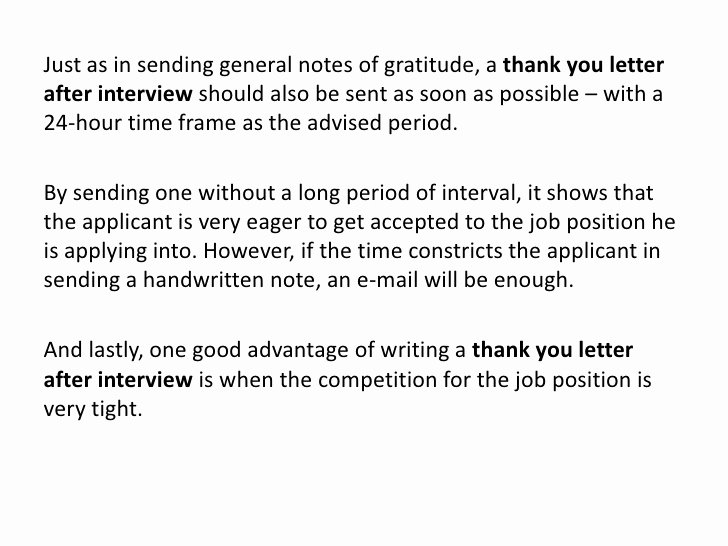 Letter after An Interview Awesome Thank You Letter after Interview