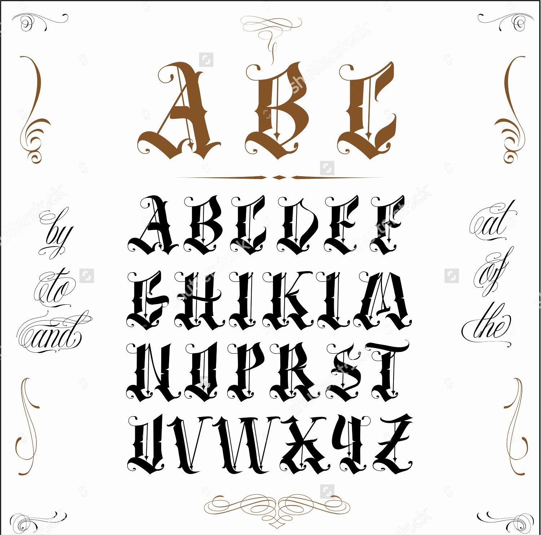 Letter Fonts for Tattoos Elegant 10 Old English Fonts Ttf Otf format Download