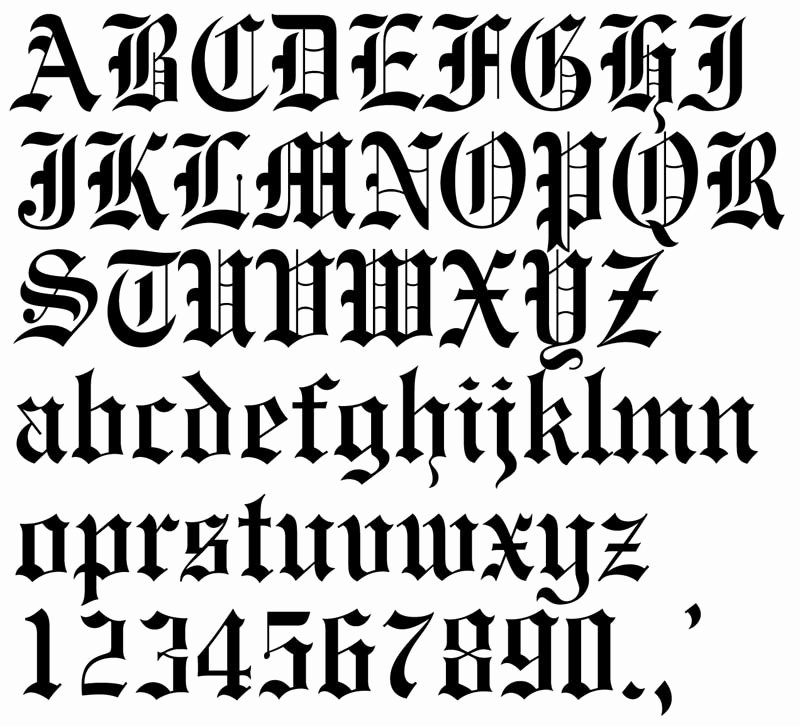 Letter Fonts for Tattoos Inspirational Tattoo Lettering Fontsteulugar