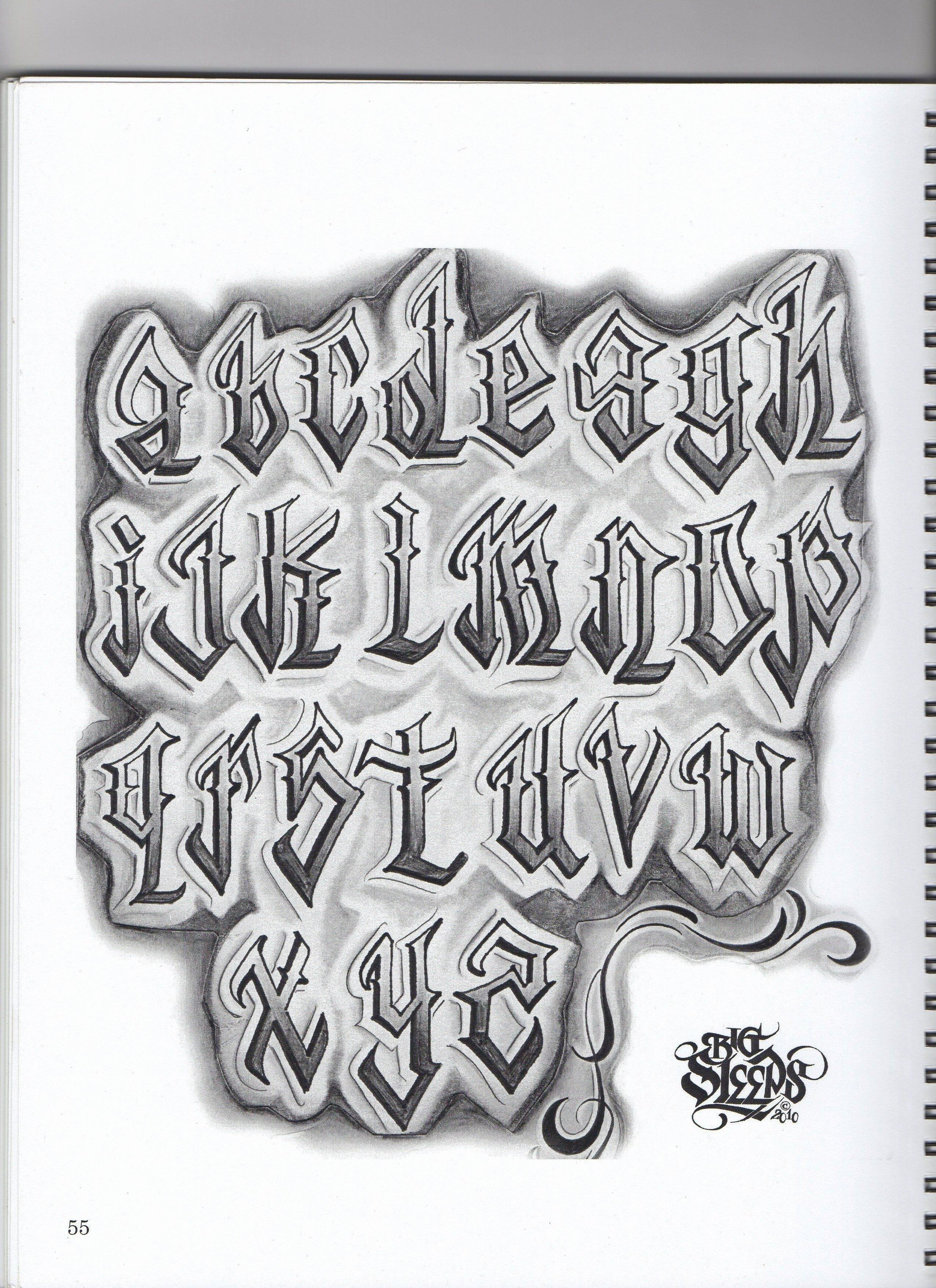 Letter Fonts for Tattoos Lovely Big Sleep … Lettering