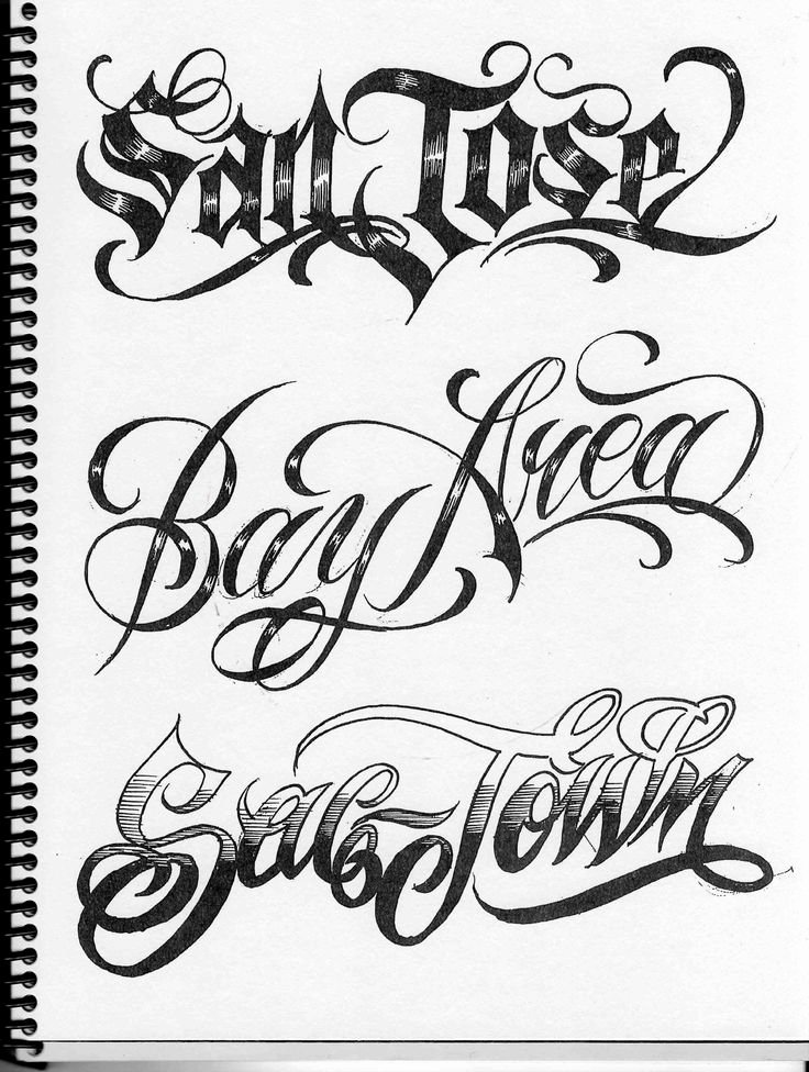 Letter Fonts for Tattoos New Om Sac to the Bay north to L A This Kilafornia