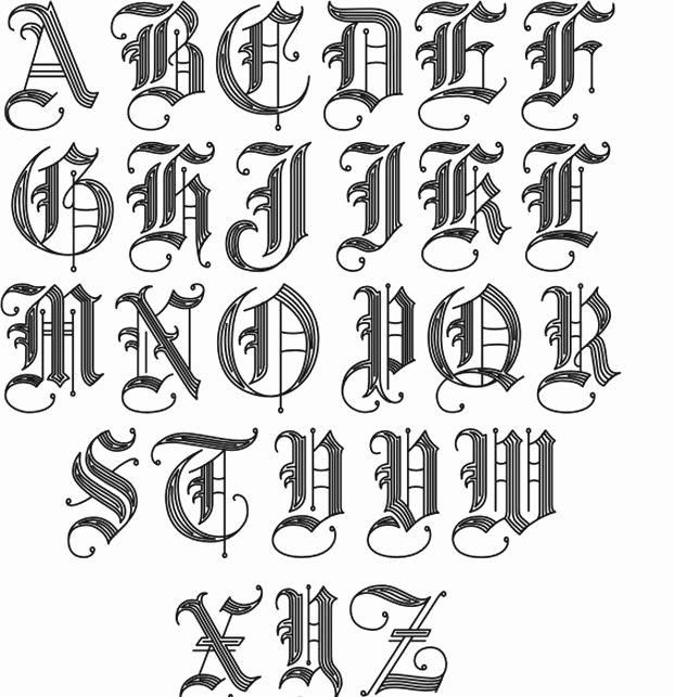 Letter Fonts for Tattoos New Pin by David Thomas On Tats