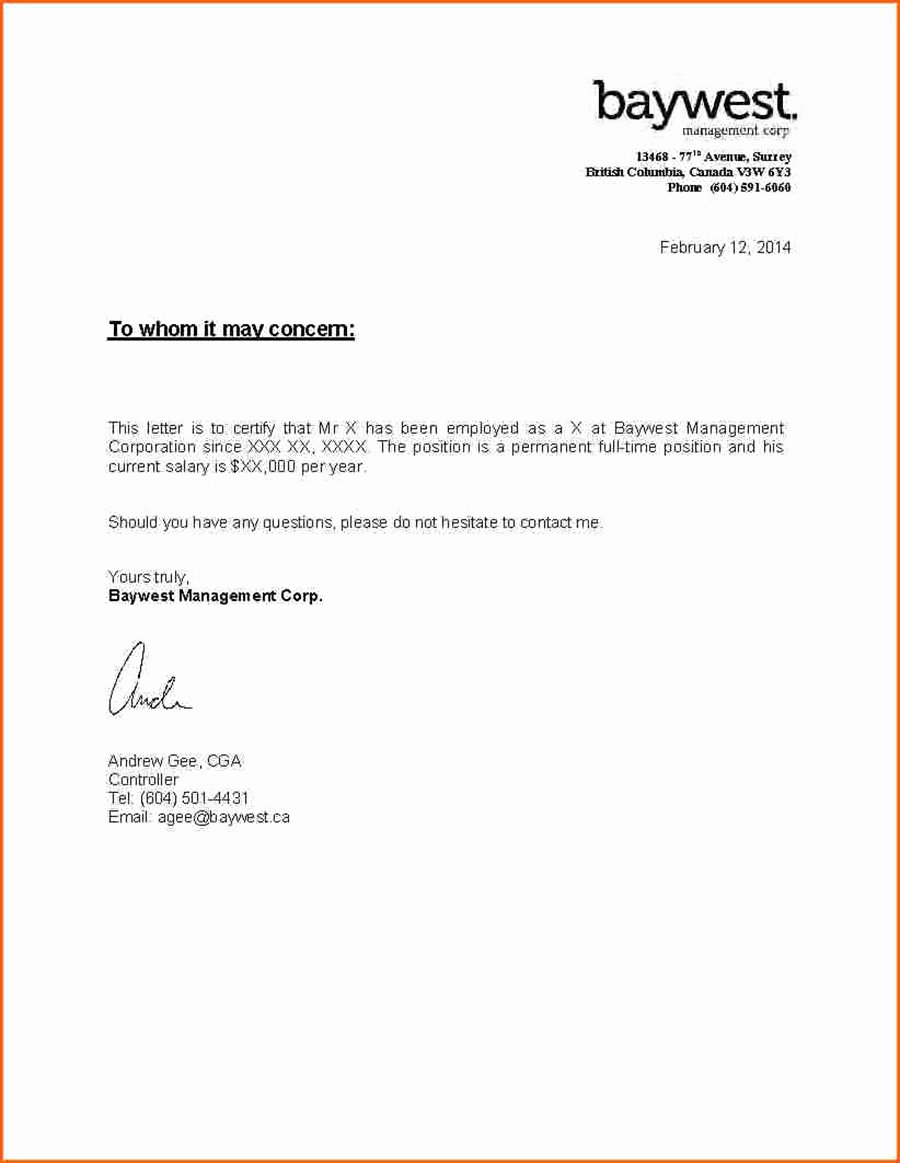 Letter for A Job Awesome Important Documents Series Letter Of Employment Client