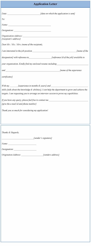 Letter Of Application Examples Fresh Letter Template for Application Template Of Application