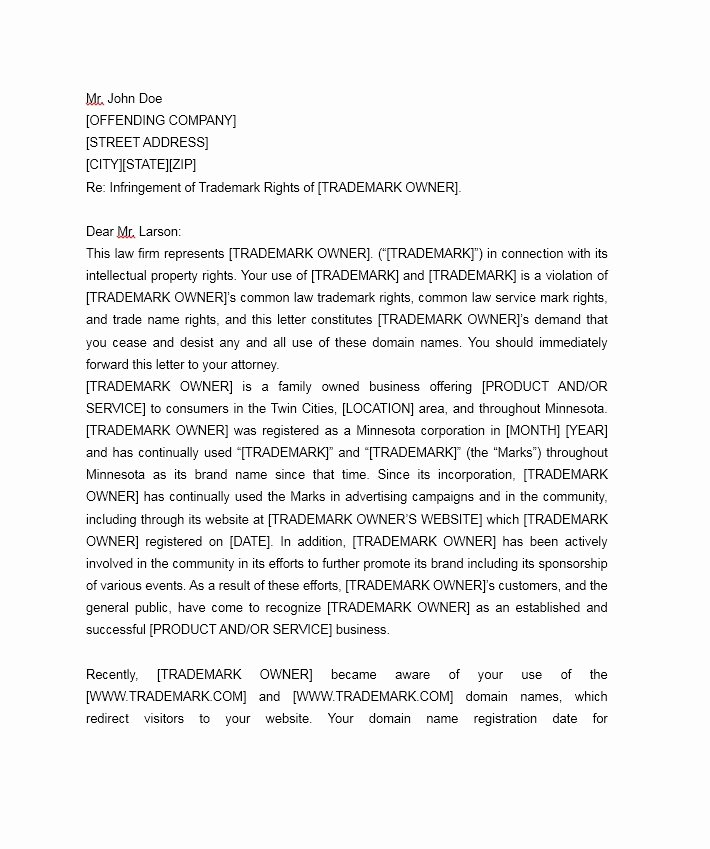 Letter Of Cease and Desist Beautiful 30 Cease and Desist Letter Templates [free] Template Lab