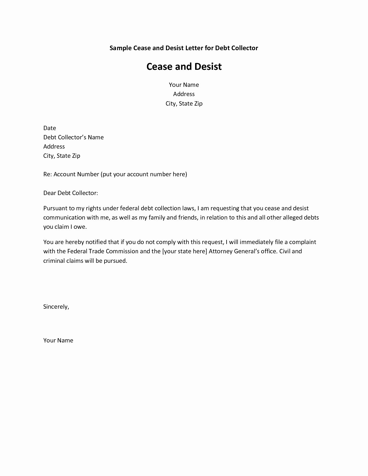 Letter Of Cease and Desist Best Of 9 Cease and Desist Letter Examples Pdf