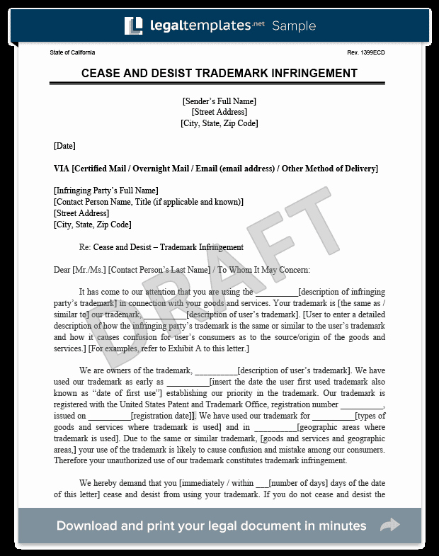 Letter Of Cease and Desist Luxury Cease and Desist Letter C&d