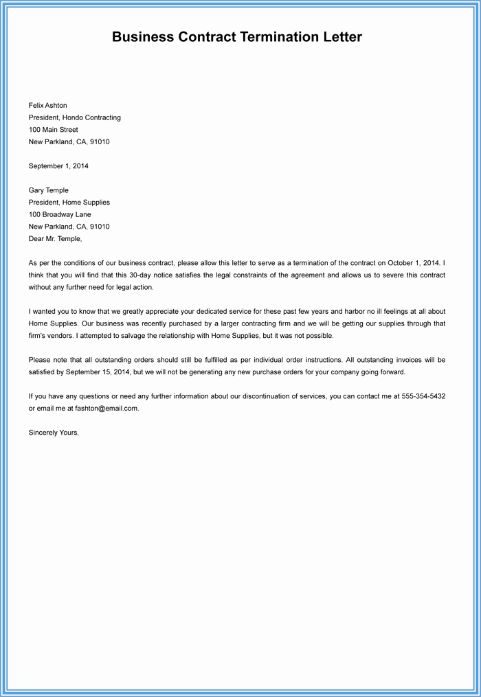 Letter Of Contract Termination Fresh 7 Employment Termination Letter Samples to Write A