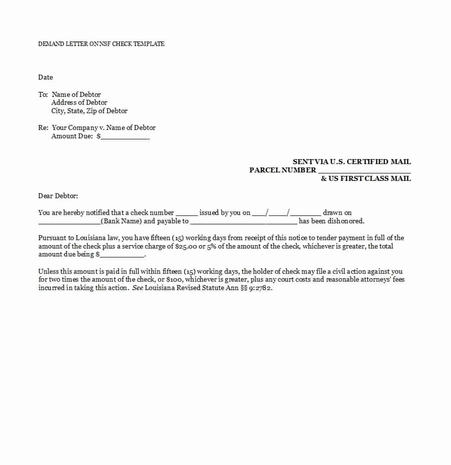 Letter Of Demand Template Lovely 40 Best Demand Letter Templates Free Samples Template Lab