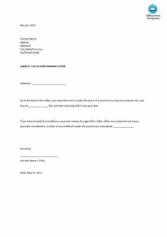 Letter Of Demand Template Luxury Demand Letter Sample