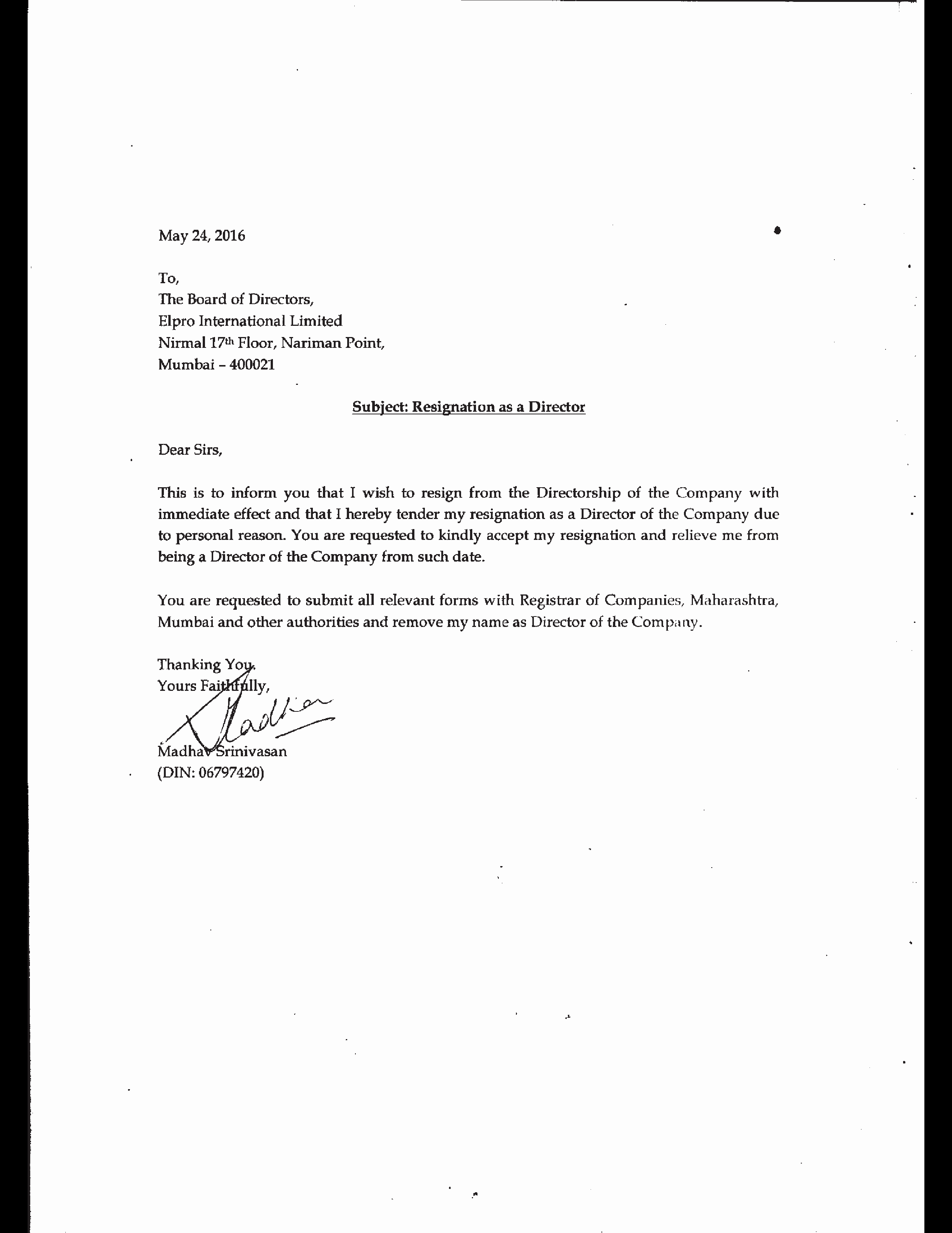 Letter Of Immediate Resignation Beautiful Immediate Resignation Letter Due to Personal Reasons