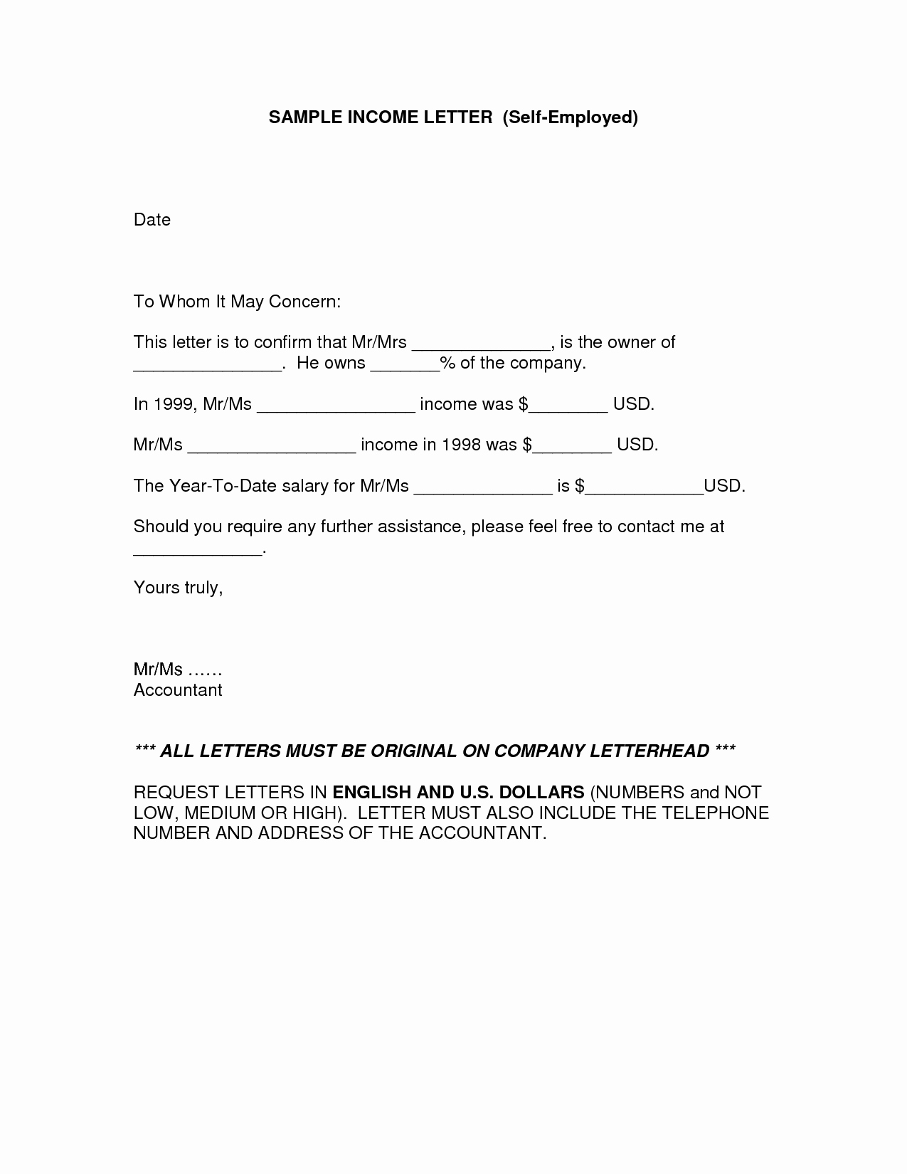 Letter Of Income From Employer Luxury In E Verification Letter for Self Employed