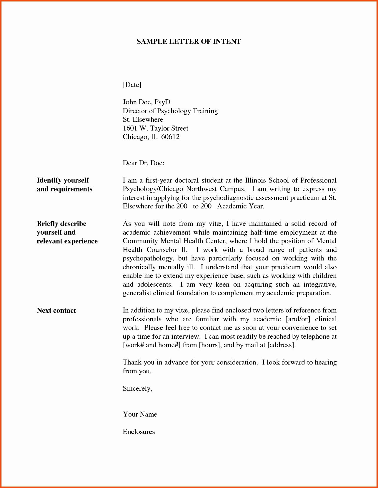 Letter Of Intent for Promotion Best Of Letter Intent for Promotion Template Collection