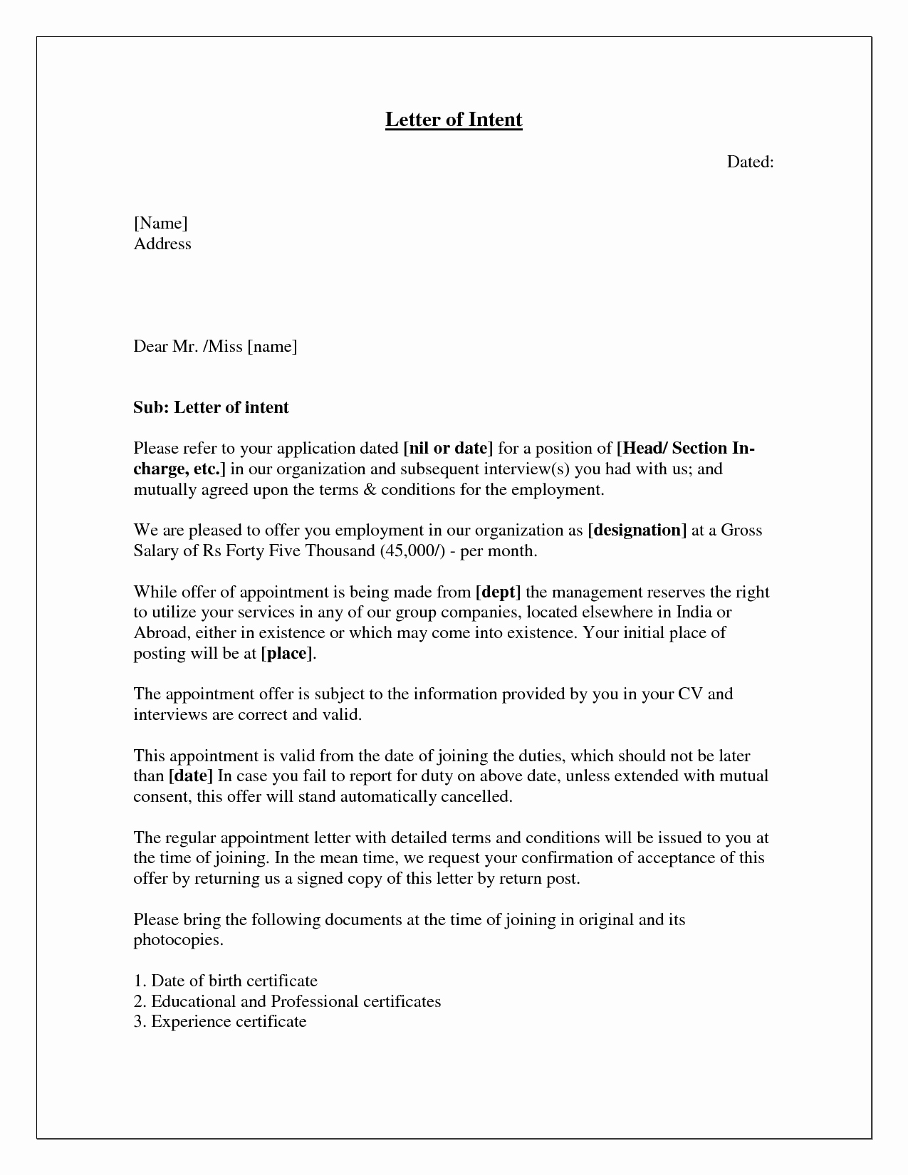 Letter Of Intent Sample Job Best Of How to Write A Letter Of Intent for A Job Application