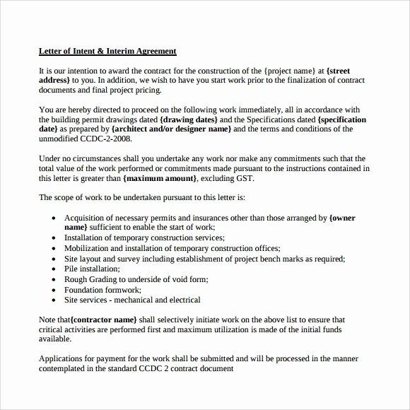 Letter Of Intent Sample Job Fresh 10 Letter Of Intent for Employment Samples Pdf Doc