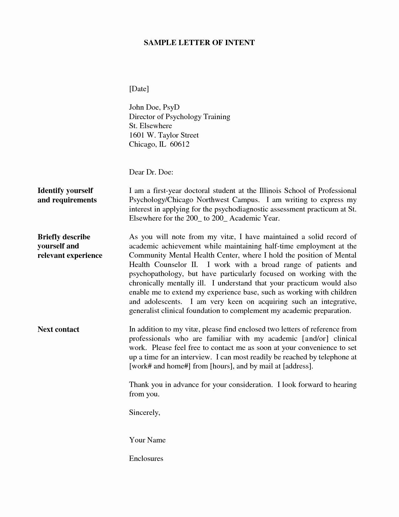 Letter Of Intent Sample Job Fresh Valid Example Letter Interest for Internal Job Posting