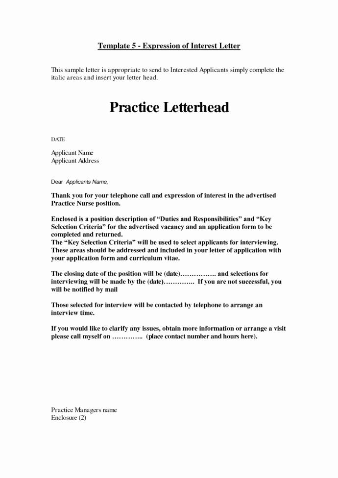 Letter Of Interest for Employment New Letter Interest for Internal Job Posting Application