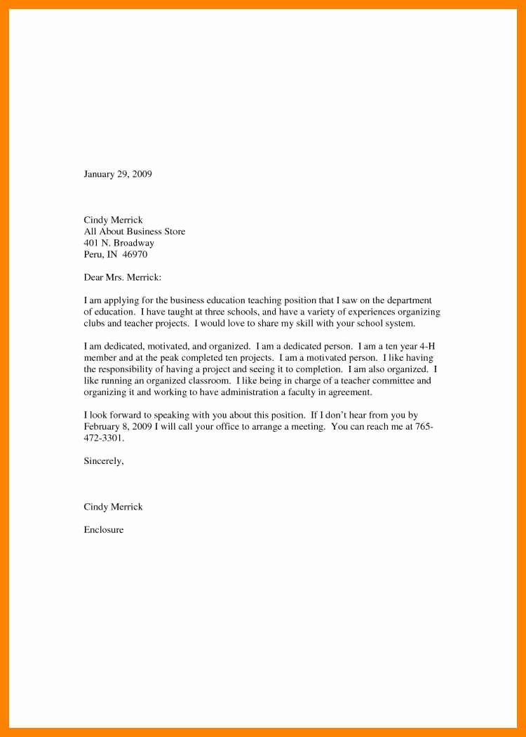 Letter Of Interest Teacher Best Of 8 9 Teacher Letter Of Interest Sample