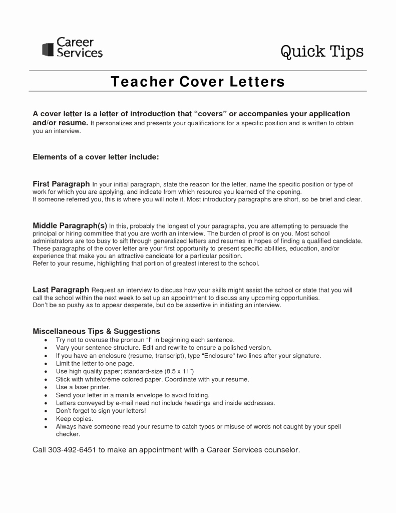 Letter Of Interest Teacher Lovely Sample Cover Letter for Teaching Job with No Experience