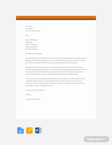 Letter Of Interest Template Word Fresh Free Letter Of Interest for Job within Current Pany