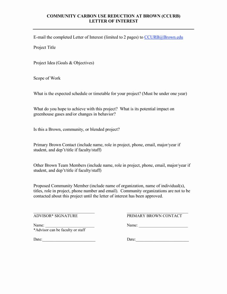 Letter Of Interest Template Word Inspirational 38 Letter Of Interest Samples & Examples Writing Guidelines