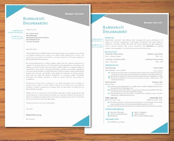 Letter Of Interest Template Word Inspirational Modern Microsoft Word Resume and Cover Letter Template by