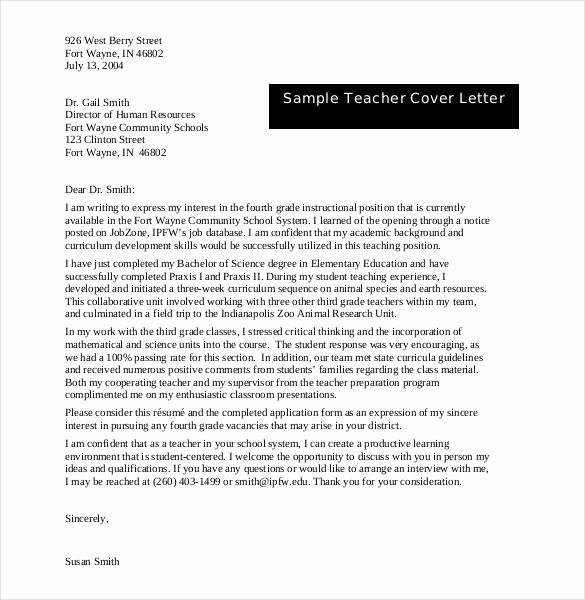 Letter Of Interest Template Word New 55 Cover Letter Templates Pdf Ms Word Apple Pages