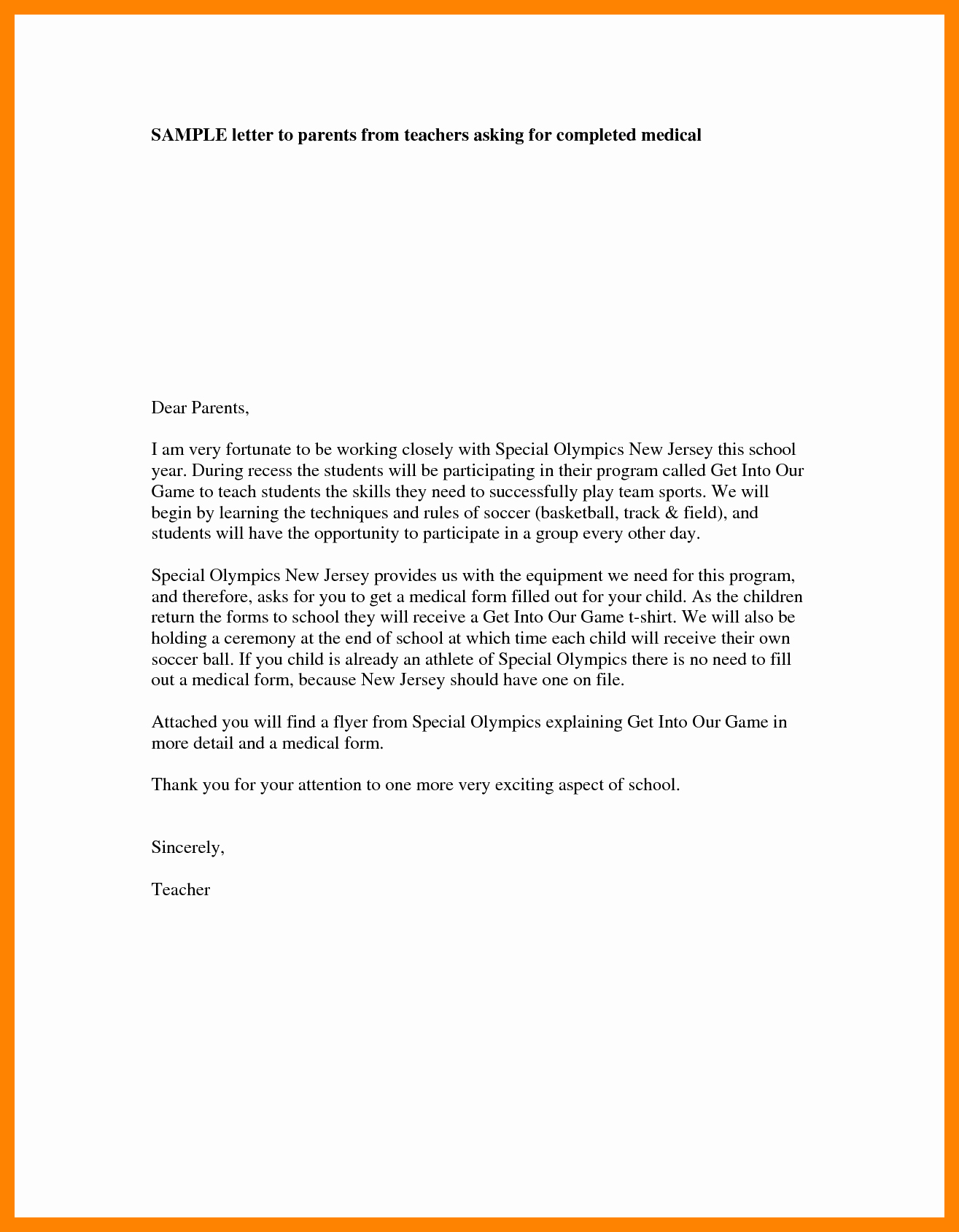 Letter Of Introduction Example Awesome 4 Teacher Introduction Letter to Parents Template