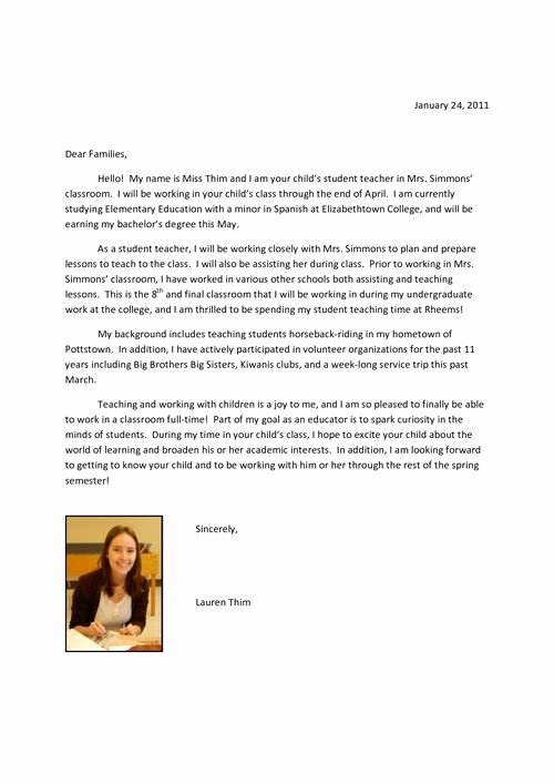 Letter Of Introduction Example Unique 10 Best Student Teacher Introduction Letter Images On