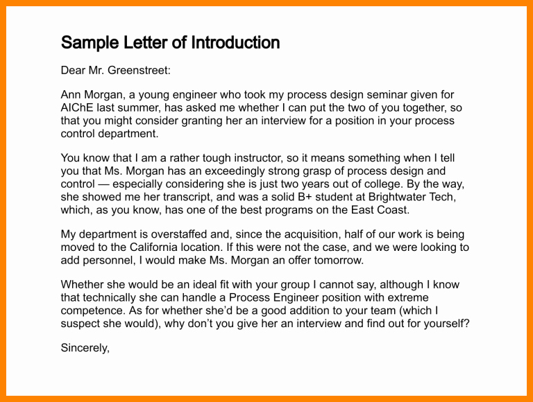 Letter Of Introduction for Yourself Awesome 7 Letter Of Introduction for Yourself