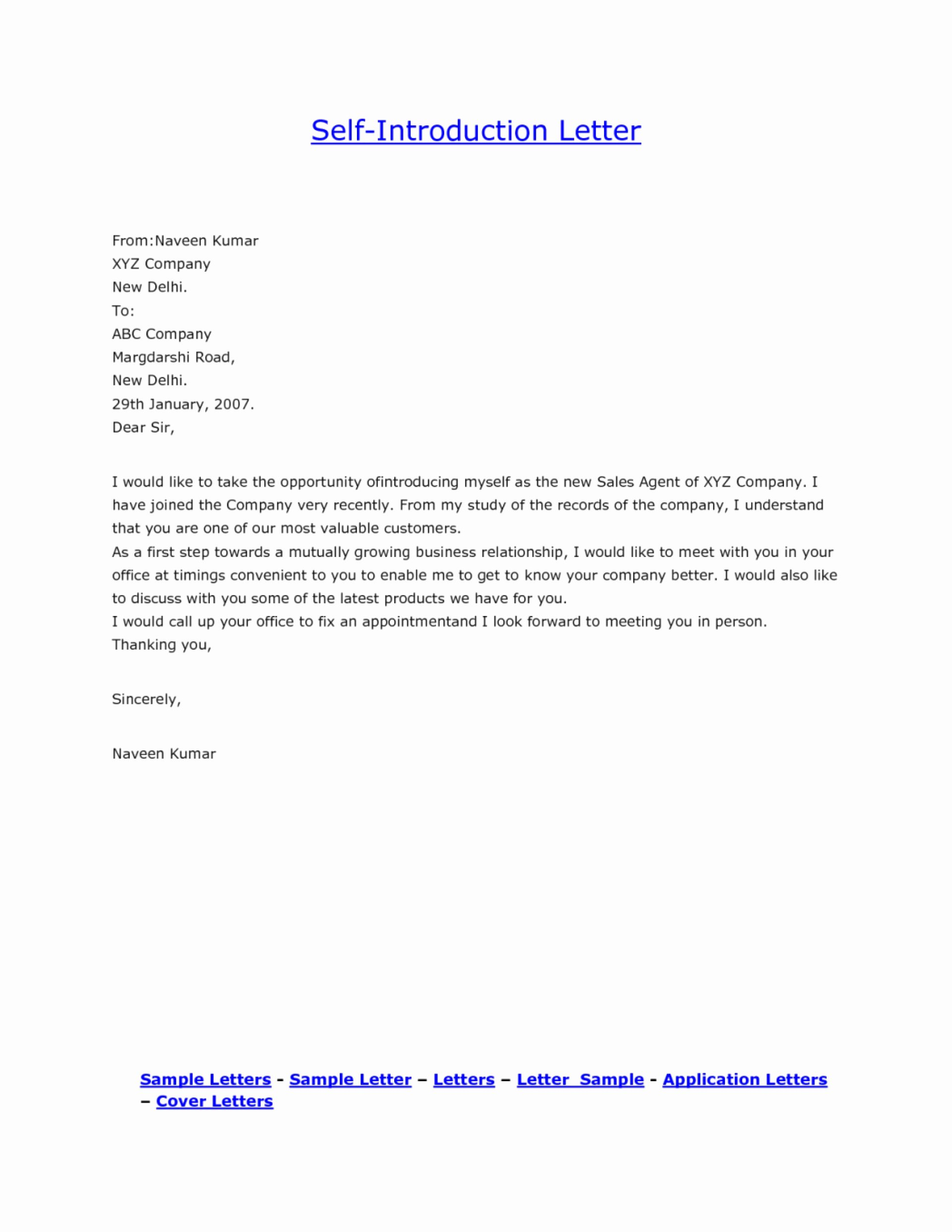 Letter Of Introduction for Yourself Fresh 015 How to Write Ann Letter About Yourself Essay Myself