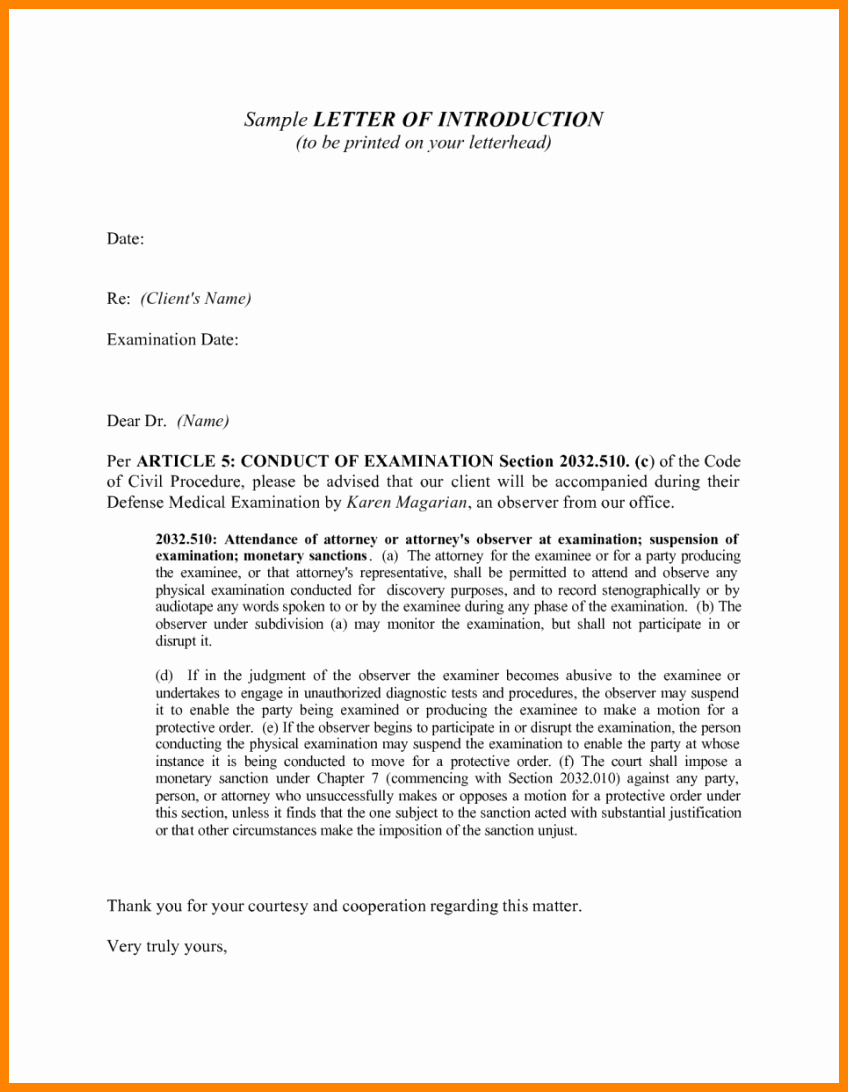 Letter Of Introduction for Yourself Fresh 5 Application Letter Introduction Sample