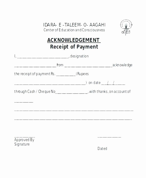 Letter Of Receipt Of Payment Fresh Acknowledgement Receipt Payment 8 Contesting Wiki