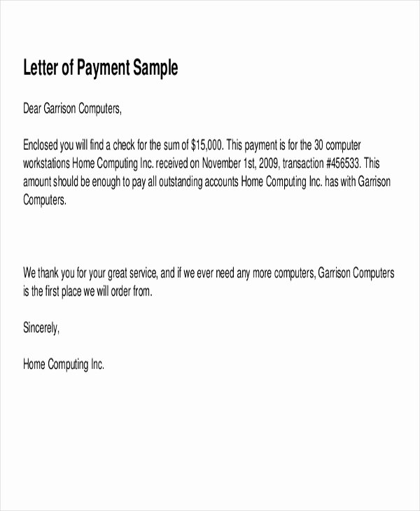 Letter Of Receipt Of Payment Unique 7 Sample Payment Receipt forms Free Sample Example