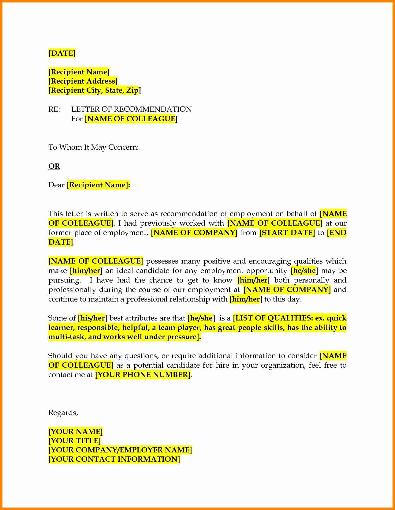 Letter Of Recommendation for Colleague Best Of Colleague Re Mendation Letter Barearsbackyard