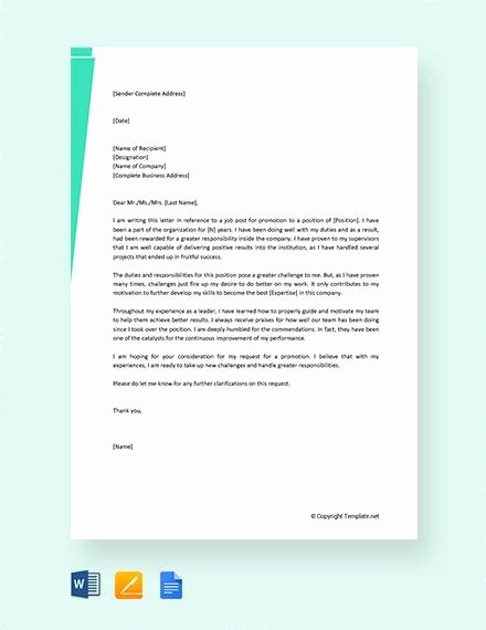 Letter Of Recommendation for Promotion Elegant 8 Sample Promotion Re Mendation Letter Examples In