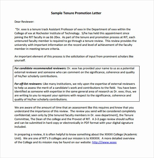 Letter Of Recommendation for Promotion Unique Sample Promotion Letter 15 Free Samples Examples