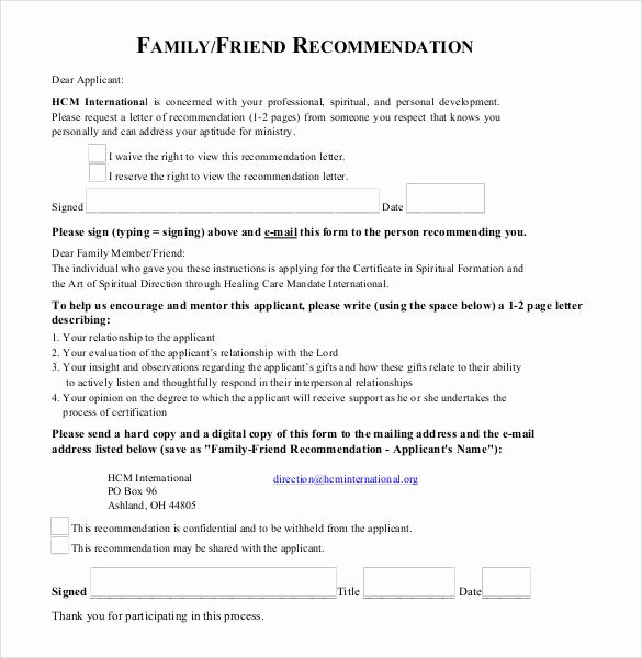 Letter Of Recommendation From Friend Beautiful 23 Friend Re Mendation Letters Pdf Doc