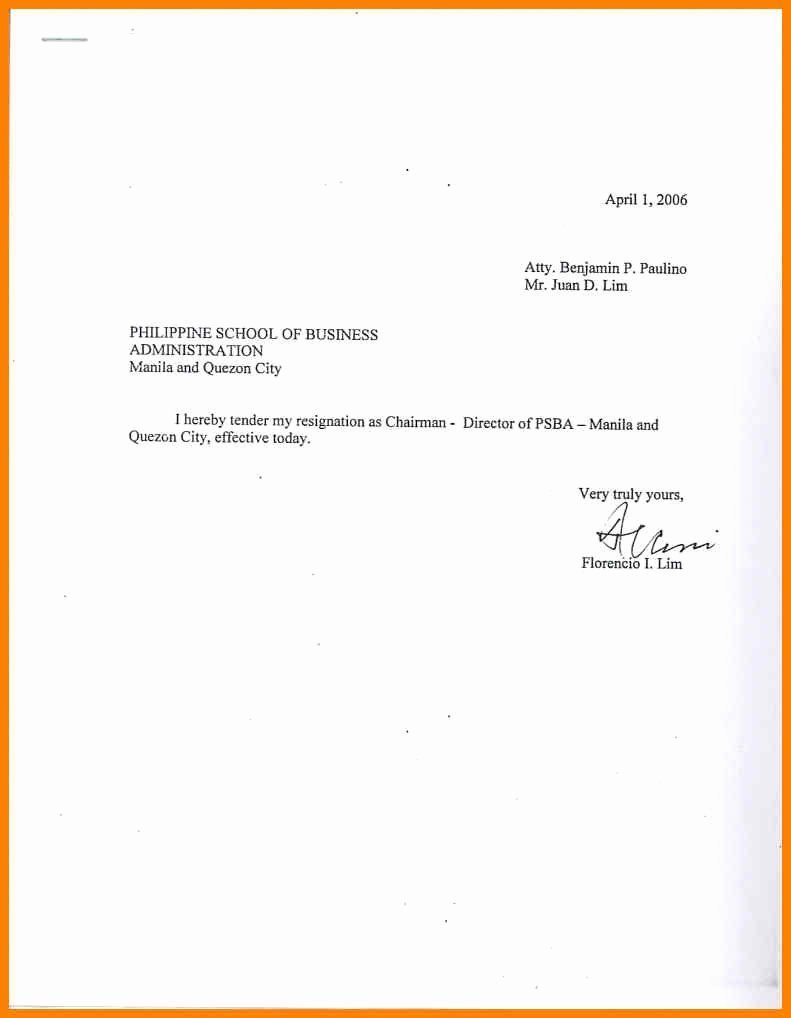 Letter Of Resignation Email Template Best Of Sample Simple Resignation Letter