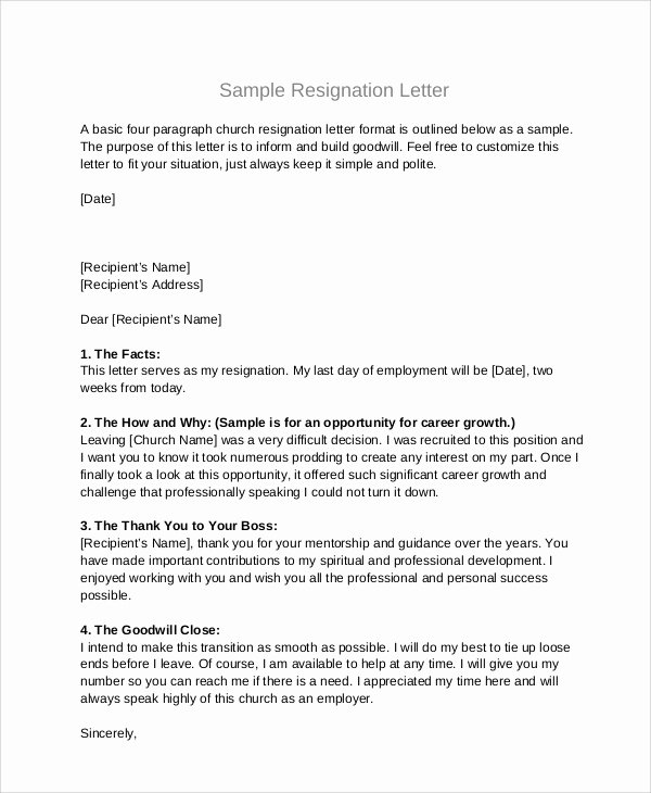 Letter Of Resignation From Committee Inspirational Sample Board Resignation Letter 5 Examples In Pdf Word