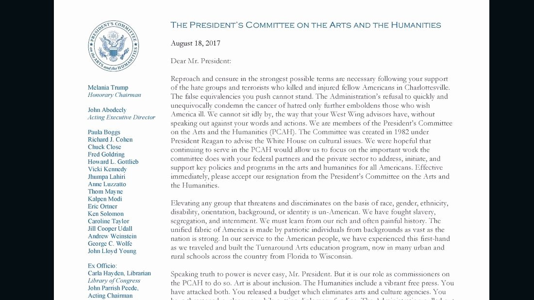 Letter Of Resignation From Committee Inspirational there S A Hidden Message In the Wh Arts Mittee S Letter