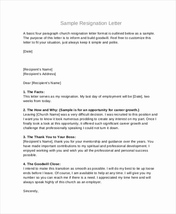 Letter Of Resignation From Committee New Free 49 Resignation Letter Examples In Pdf Doc