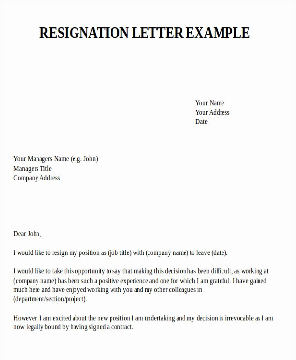 Letter Of Resignation From Job Lovely Sample Resignation Letter for New Job 7 Examples In Pdf
