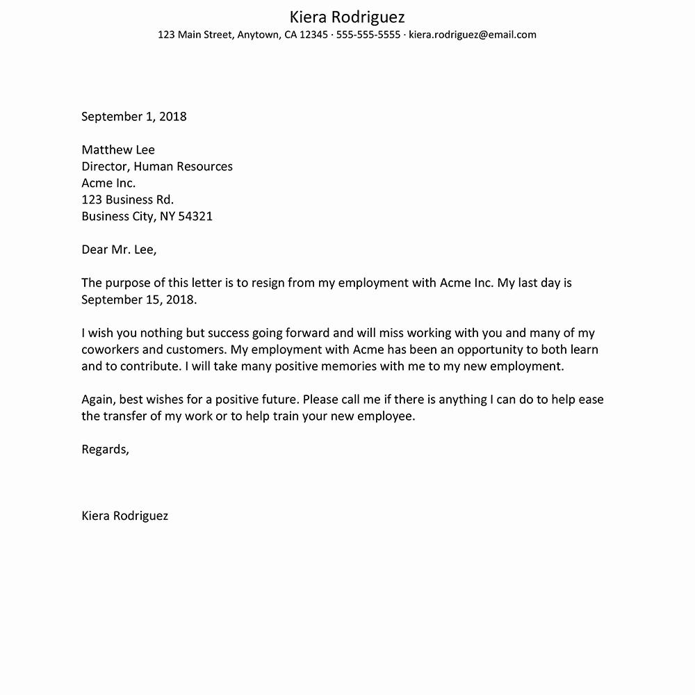 Letter Of Resignation From Job Luxury Sample Employee Resignation Letters