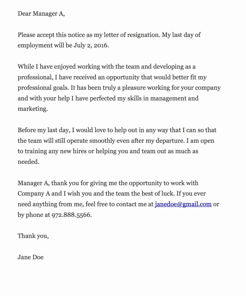 Letter Of Resignation From Job New How to Write A Resignation Letter Xonecole
