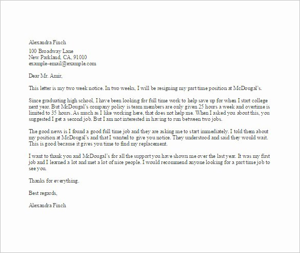 Letter Of Resignation From Job Unique Simple Resignation Letter Template – 15 Free Word Excel
