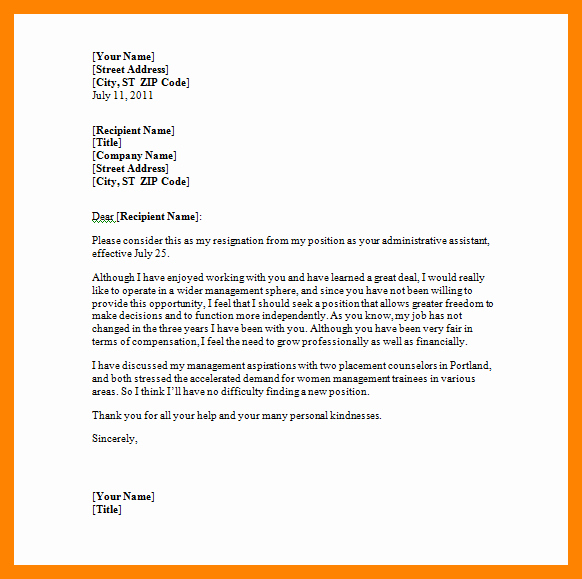 Letter Of Resignation Template Microsoft Awesome 5 Microsoft Word Letter Of Resignation Template